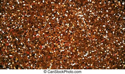Abstract pixels in brown and orange colors
