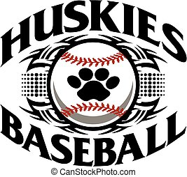 huskies baseball - tribal huskies baseball team design with...