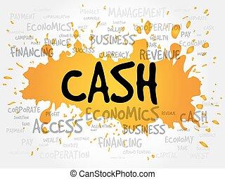CASH word cloud, business concept