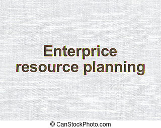 Finance concept: Enterprice Resource Planning on fabric texture background