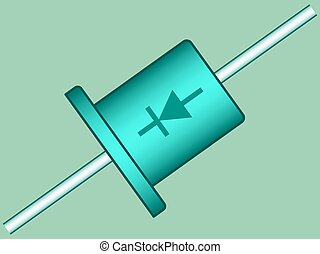 Diode - Illustration of the diode radio component