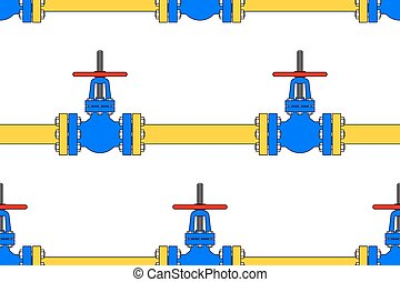 Pipeline valve pattern - Seamless pattern of the pipeline...
