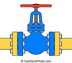Pipeline valve - Illustration of the pipeline valve stopcock...