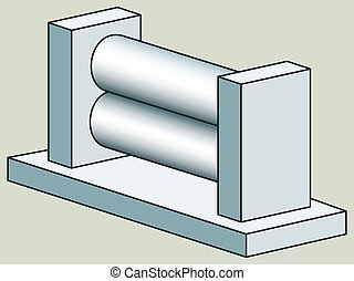 Rolling press - Illustration of the rolling press icon