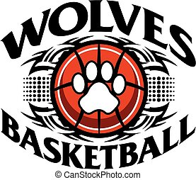 wolves basketball - tribal wolves basketball team design...