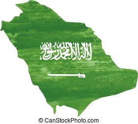 Saudi Arabia flag grunge country vector on white - dotted...