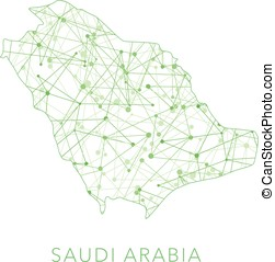 Saudi Arabia dotted texture country vector on white...