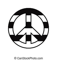 Peace symbol rainbow icon - Peace symbol rainbow black...