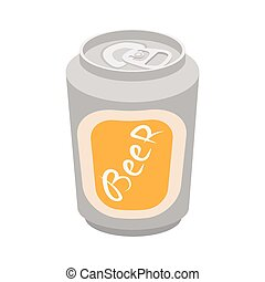 Beer can cartoon icon on a white background