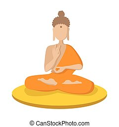 A monk meditating in the lotus position icon