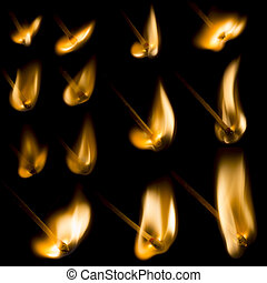 Collection of igniting Matches