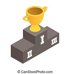 Gold cup winner isometric 3d icon