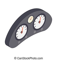 Dashboard of racing car isometric 3d icon