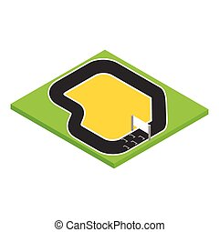 Speedway isometric 3d icon on a white background