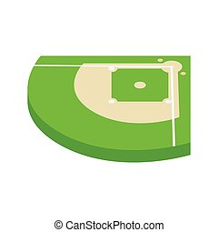 Baseball aield isometric 3d icon on a white background