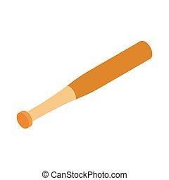 Baseball bat isometric 3d icon on a white background