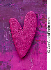 Painting with heart - painted heart, artwork is created and...