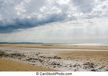 Beach on the Cote dOpale near Calais, France - Beach on the...