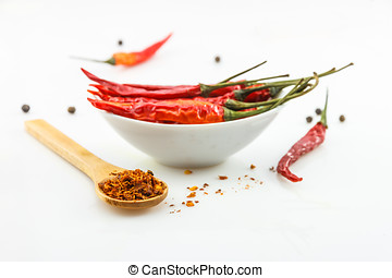 Hot red chili or chilli pepper isolated on white background cutout.