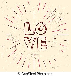 Vector handdrawn background for Saint Valentines day
