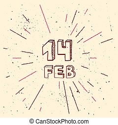 Vector handdrawn background for Saint Valentines day - Saint...