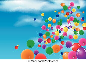 Sky Background with Colorful