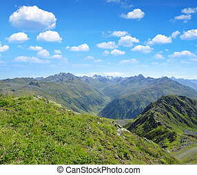 Switzerland Alps - Summer landscape in Switzerland Alps -...