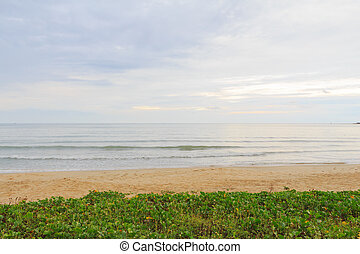 Peaceful beach and ocean scenic for vacations and summer. -...