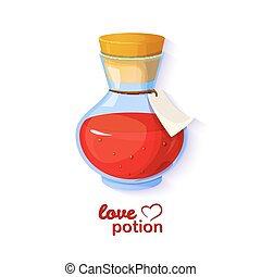 Love potion, vector illustration - Love potion, icon of the...
