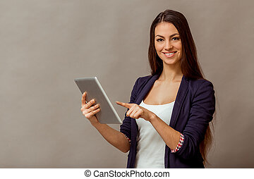 Young successful woman - Portrait of a young beautiful woman...