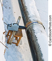 Radiography of welded joints of pipelines in winter...