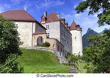 Castle of Gruyeres, Fribourg, Switzerland - Close up on...