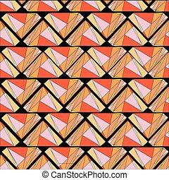 trianglular wooden pallets seamless - a vector illustration...
