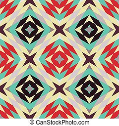 Seamless pattern - Retro geometric background