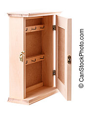 housekeeper key wood box vintage