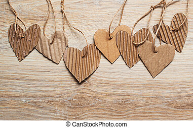 Valentine Day scrapbooking elements paper hearts and place for text