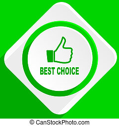 best choice green flat icon