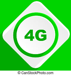 4g green flat icon
