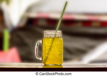 Soft Drink - A soft drink on a nature background