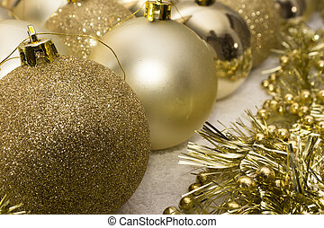 Christmas tree baubles decoration.