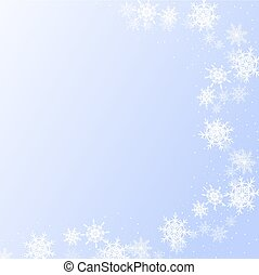 Winter background with snowflakes for use in your design