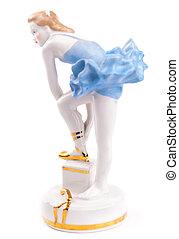 Little porcelain ballet dancer.