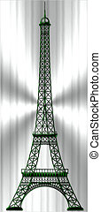 Eiffel Tower - The Eiffel Tower from bronze