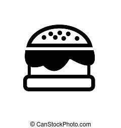 Burger, vector illustration