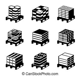 Different types of pavement tiles - vector illustration