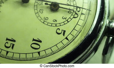 Vintage dial stopwatch. - Close up of an antique stopwatch,...