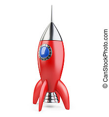 Rocket red retro style.