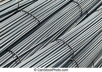 Reinforcing steel bars background