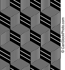 Seamless op art pattern Geometric hexagons and diamonds...