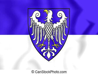 Flag of Arnsberg City North Rhine-Westphalia, Germany - 3D...